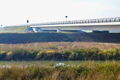 Elevated highway that passes in the middle of the countryside Royalty Free Stock Photos