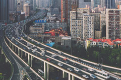 Elevated Highway in Shanghai, China. Stock Images