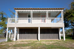 Elevated Home: Coastal Cottage Royalty Free Stock Image