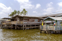 Elevated houses along the Chao Phraya River Stock Image