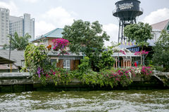 Elevated houses along the Chao Phraya River Royalty Free Stock Image