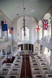 Elevated interior view of historic Old North Church Royalty Free Stock Image