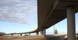 Elevated Modern Road System Stock Images