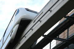 Elevated monorail or tram at station Stock Photos