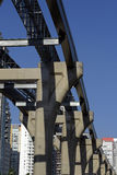 Elevated monorail under construction in Sao Paulo Stock Photos