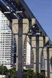 Elevated monorail under construction in Sao Paulo Stock Photography