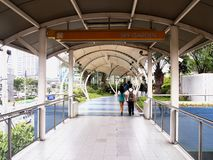 An elevated outdoor park called The Sky Garden at the SM City North Edsa Stock Images