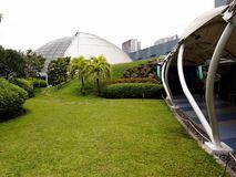 An elevated outdoor park called The Sky Garden at the SM City North Edsa Royalty Free Stock Image