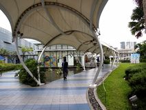 An elevated outdoor park called The Sky Garden at the SM City North Edsa Royalty Free Stock Photo