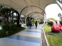 An elevated outdoor park called The Sky Garden at the SM City North Edsa Stock Photography