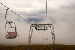 An elevated passenger ropeway. Chair lift Royalty Free Stock Image