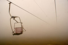 An elevated passenger ropeway. Chair lift Royalty Free Stock Photography