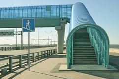 Elevated pedestrian crossing Stock Images
