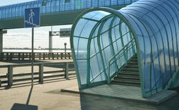 Elevated pedestrian crossing Stock Image