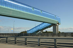 Elevated pedestrian crossing Royalty Free Stock Image