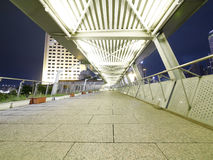 Elevated pedestrian walkway Royalty Free Stock Images