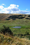 Elevated Pond at Archer's Seat in Scotland Stock Image