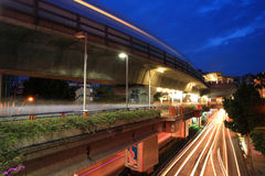 Elevated rail at Victory monument station Stock Image