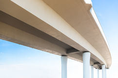Elevated road from below Royalty Free Stock Photos