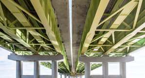 Elevated road from below Royalty Free Stock Photo