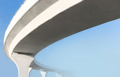 Elevated road from below. View from below to an elevated road Royalty Free Stock Photography