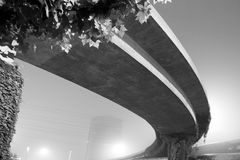 Elevated road at night Stock Images