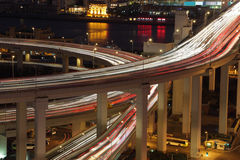 Elevated road at night Royalty Free Stock Photo