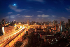 Elevated road at night Stock Photo