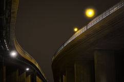 Elevated road at night Royalty Free Stock Photography