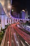 Elevated road at night, Xiamen, China Royalty Free Stock Photo