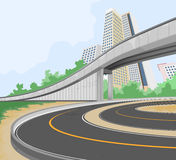 Elevated Road Scene Royalty Free Stock Images