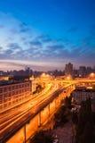 Elevated road at sunrise Royalty Free Stock Image