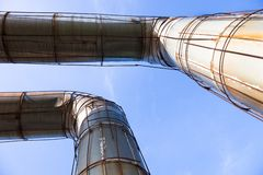 Elevated section of the pipelines Royalty Free Stock Photography