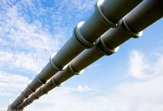 Elevated section of the pipelines Royalty Free Stock Images