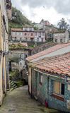 Elevated street in Cudillero Stock Photography