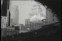 Elevated subway, New York City, 1930s stock video footage