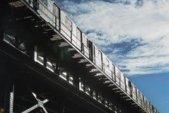 Elevated subway NYC Stock Photography