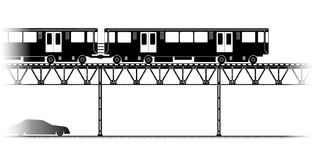 The Elevated Train  in Chicago Royalty Free Stock Photo