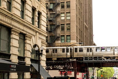The Elevated Train in Chicago, USA Royalty Free Stock Photo
