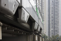 Elevated train. China Chongqing 2 line elevated train Stock Image