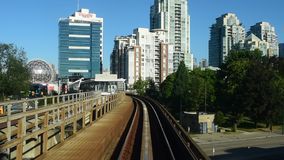 Elevated Train, Driver's Perspective stock video footage
