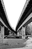 Elevated train tracks Royalty Free Stock Image