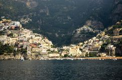 Elevated view of Amalfi, a town in the province of Salerno, in the region of Campania, Italy, on the Gulf of Salerno, 24 miles sou Royalty Free Stock Photography
