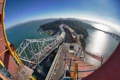 Elevated View of the Bay Bridge Stock Photos