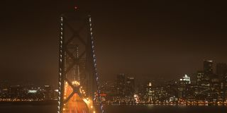 Bay Bridge in San Francisco Royalty Free Stock Photography