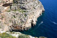 Elevated view of the Blue Grotto coastline, Malta. Stock Photos