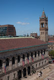 Elevated view of Boston Public Library Stock Image