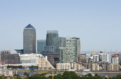 Elevated view of Canary Wharf, London Royalty Free Stock Photo