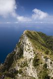Elevated view of Capri, an Italian island off the Sorrentine Peninsula on the south side of Gulf of Naples, in the region of Campa Stock Photos