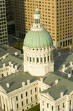 Elevated view of dome of Saint Louis Historical Old Courthouse, Federal Style architecture built in 1826 and site of Dred Scott sl Royalty Free Stock Photos